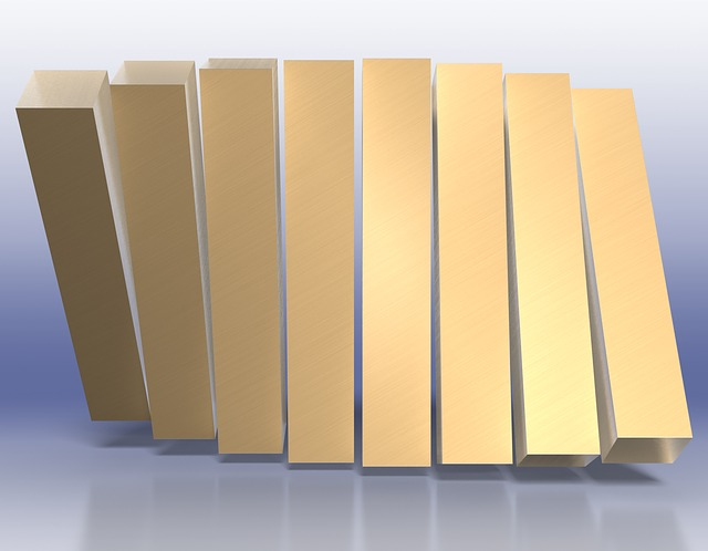 Wave, Bars, Gold, Business Concept, Business