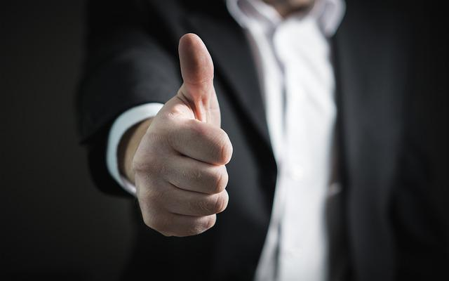 Thumbs Up, Okay, Good, Well Done, Success, Business Man