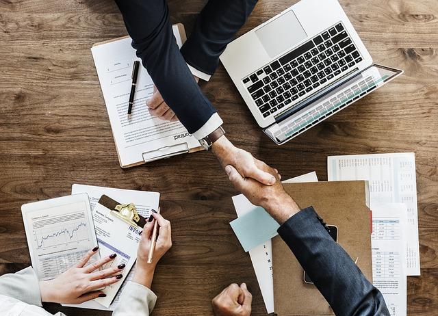 Business, Paperwork, Deal, Agreement, Handshake, Office
