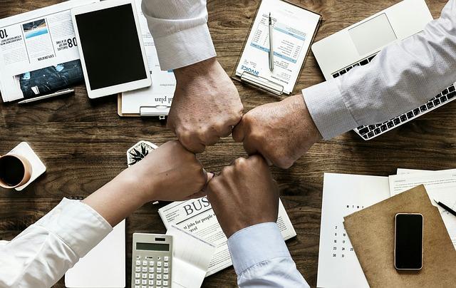 Teamwork, Cooperation, Brainstorming, Business, Finance