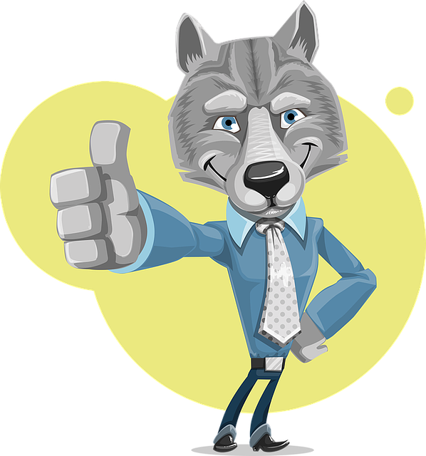 Wolf, Corporate, Cute, Business, Thumbs-up, Company
