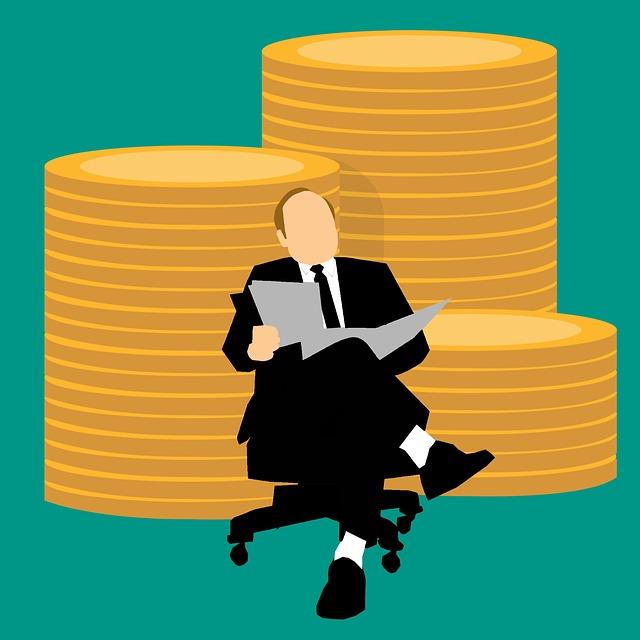 Businessman, Manager, Money, Bitcoin, Block Chain
