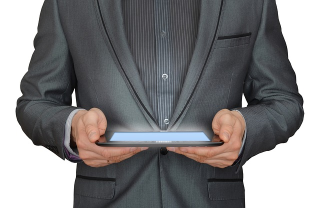 Man, Businessman, Tablet Computer, Online Business