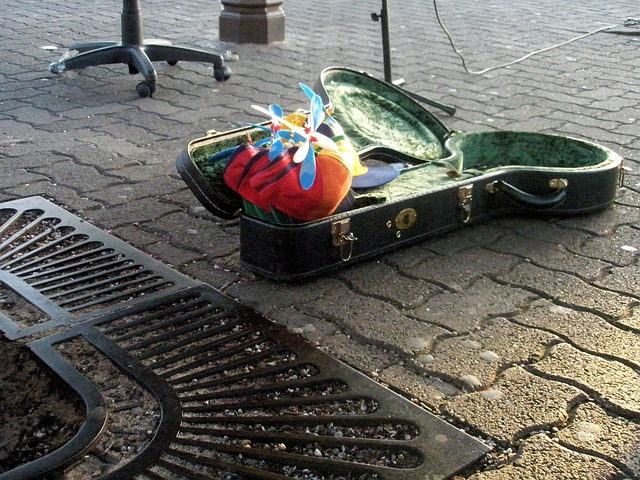 San Francisco, Busking, Busk, Hat, Helicopter Hat