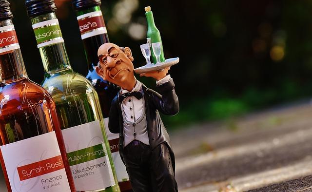 Waiter, Wine, Serve, Control, Drink, Upper, Butler