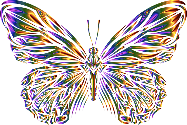 Butterfly, Animal, Insect, Abstract, Geometric