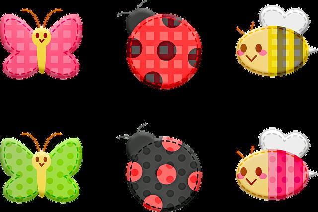 Kawaii Animals, Animal Stickers, Butterfly, Ladybug
