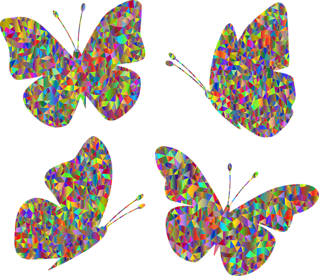 Butterfly, Low Poly, Geometric, Polygons, Abstract