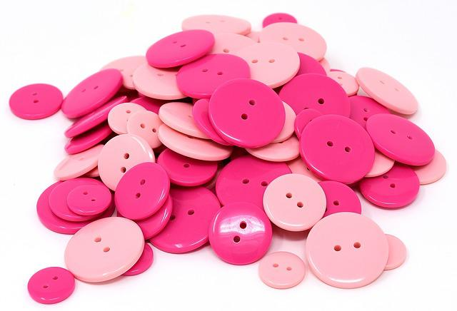 Buttons, Pink, Colorful, Color, Handarbeiten, Button
