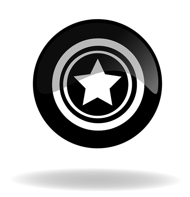 Star, Star Button, Star Black Button, Button, Icon