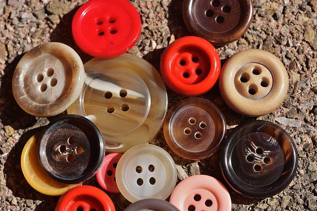 Buttons, 4 Holes, Colorful, Close, Button, Color