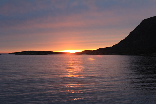 Greenland, Sunset, By The Water
