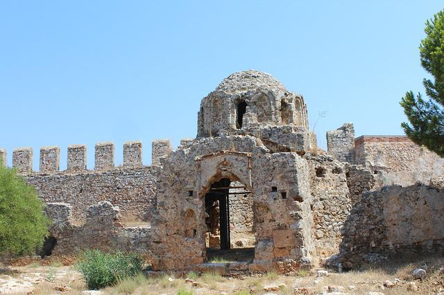 The Ancient Church, Byzantine, Castle, Antalya, Alanya