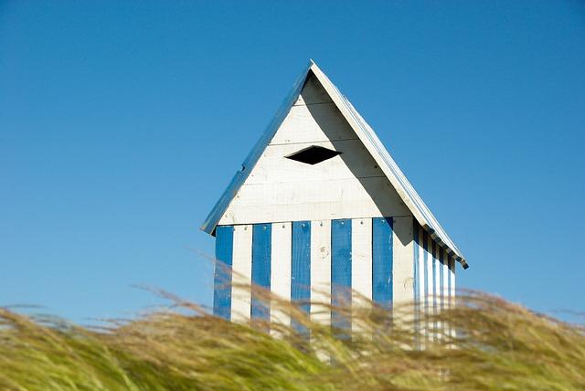 Small House, Cabin, Wood, Beach