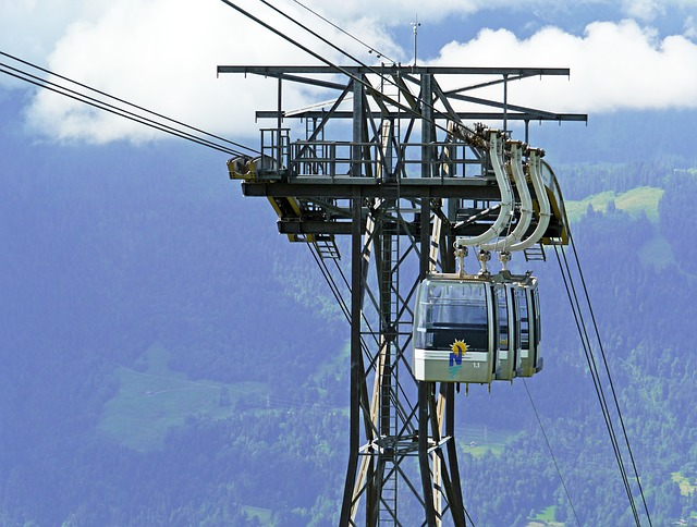 Switzerland, Beatenberg, Cable Car, Cabin Groups-orbit