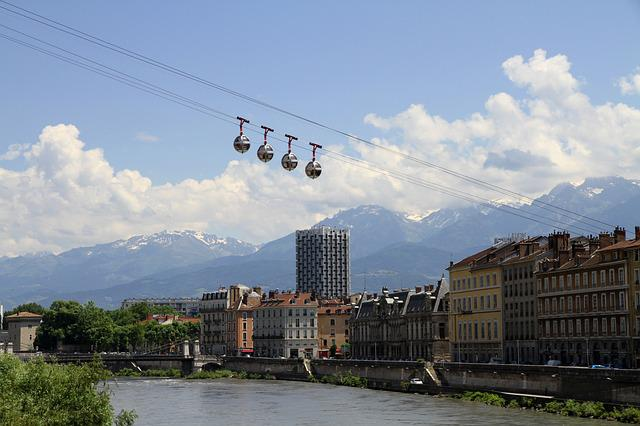 Cable Car, Grenoble, City, Isère, France, Mountain