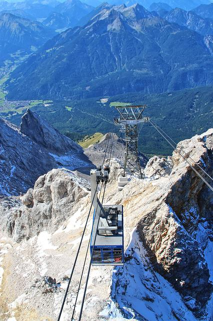Cable Car, Gondola, Lift, Zugspitze, Mountains