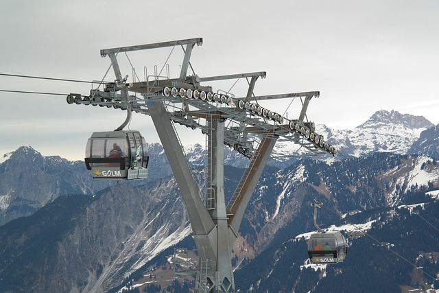 Gondola, Cable Car, Ski Area, Skiing, Montafon, Golm