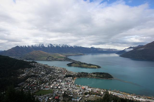 Lake, Queenstown, Water, Mountain, Cable, Car, Harbour