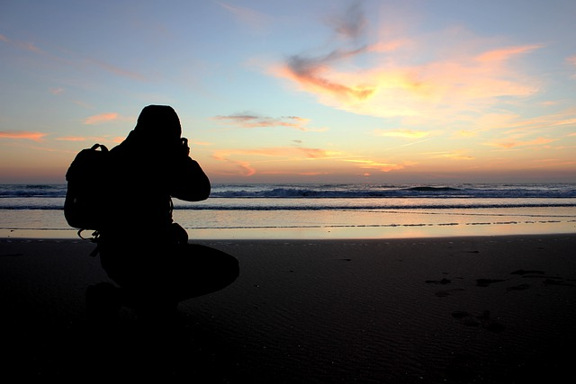 Cadiz, Spain, Silhouette, Man, Clouds, Sky, Sunset
