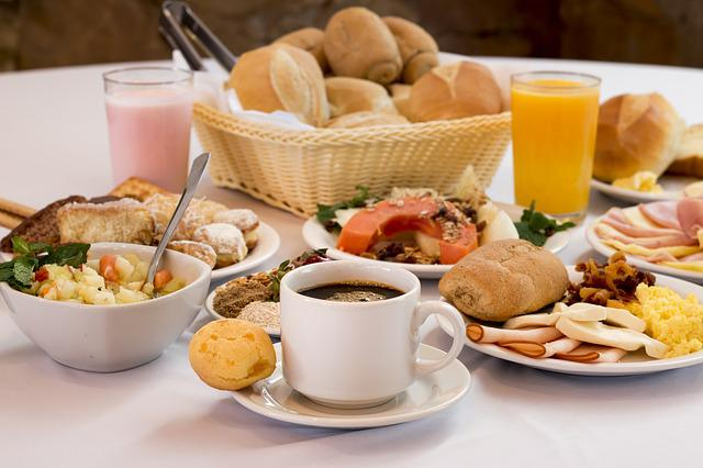 Cafe, Morning, Food, Breads, Bread, Cheese, Basket