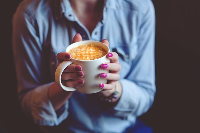 Hands, Coffee, Cup, Mug, Drink, Cafe, Latte, Nails