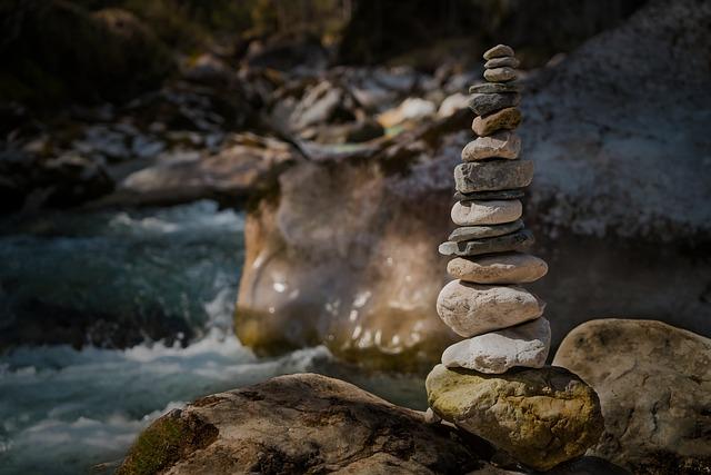 Stones, Nature, Long Exposure, Cairn, Landscape, Forest