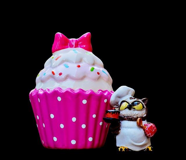 Baker, Cooking, Coffee, Cupcake, Owl, Cake