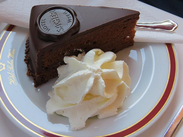 Sacher Cake, Vienna, Cake, Pastry Shop, Candy, Cafe