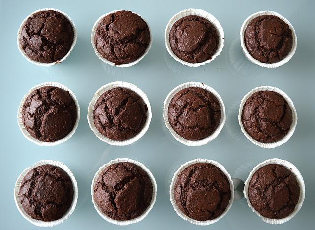 Cake, Chocolate, Muffin