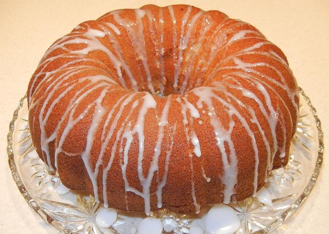 Cake, Citrus Cake, Confectioner Sugar, Baked