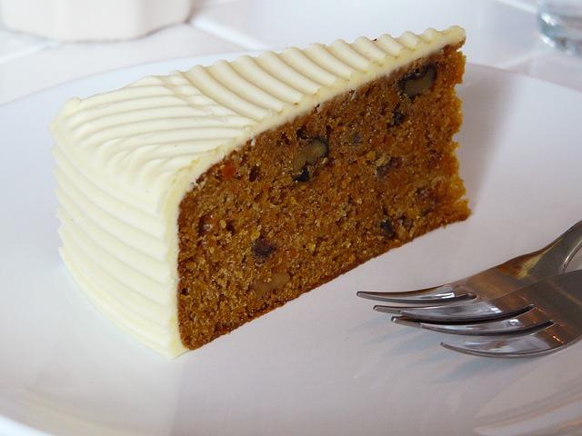 Carrot Cake, Cake, Cream, Cheese, Dessert, Sweet