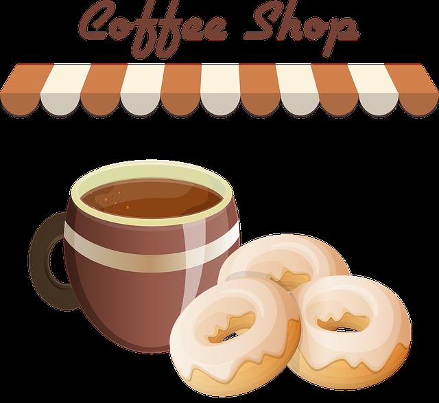 Cake, Pastries, Macaroons, Donut, Coffee, Sweet