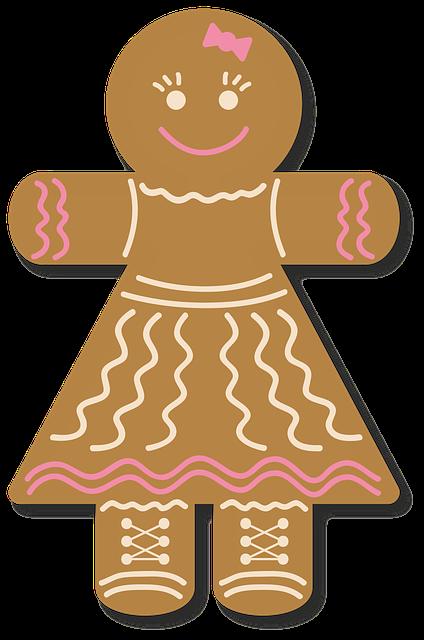 Gingerbread, Cake, Christmas, Ornament, Embellish