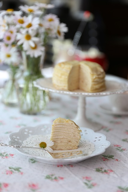 Crepe Cake, Cake, Dessert, Tea Time, Homemade, Handmade