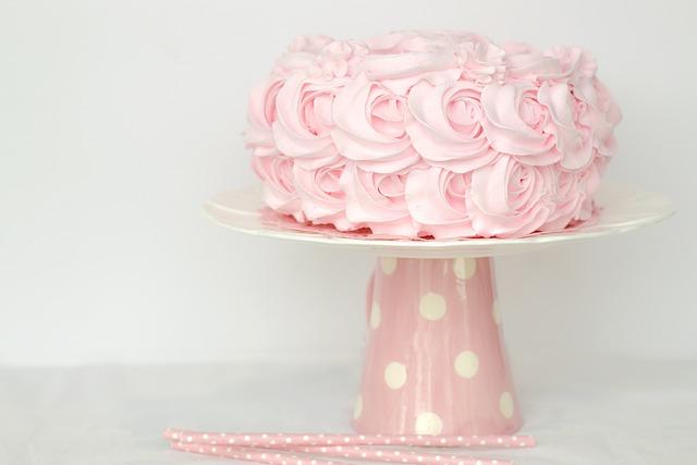 Cake, Sweet, Pink, Birthday, Valentine, Valentines Day