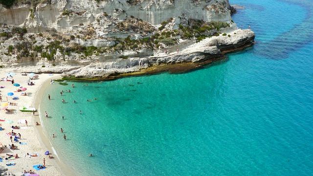 Tyrrhenian Sea, Italy, Calabria, Tropea, Cliffs, Bay