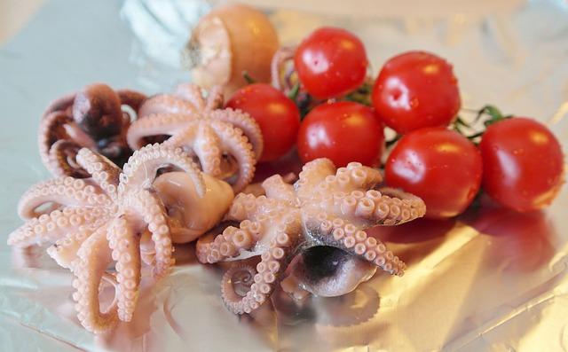 Fish, Squid, Octopus, Mussels, Calamari, Appetizing