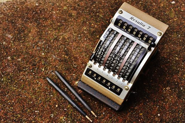 Resulta 7, Old, Calculating Machine, Antique