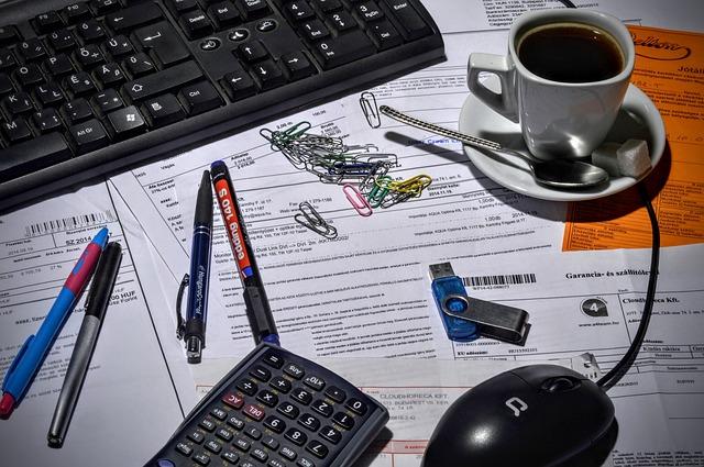 Bookkeeper, Accountant, Office, Coffee, Calculator