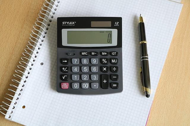 Calculator, Pen, Block, Business, White, Stationery