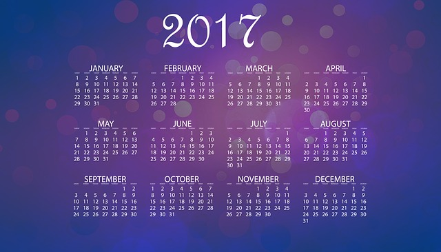 Calendar, 2017, Date, Time