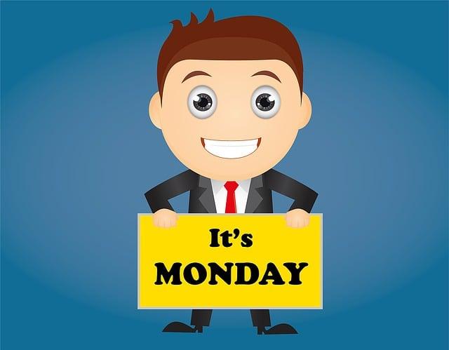 Monday, Date, Week, Calendar, Day, Holiday, Reminder