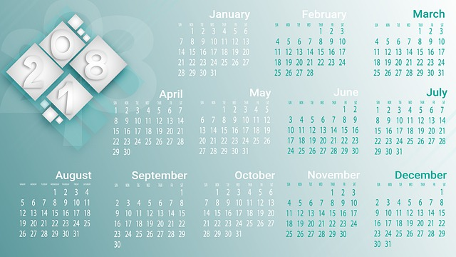 Calendar Design Date : Free photo calendar pay cube wood months numbers grey