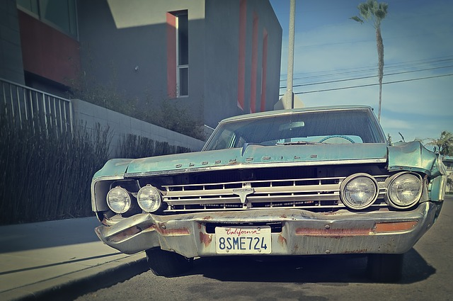 Bleached, California, Junk Car, Oldsmobile, Vintage Car
