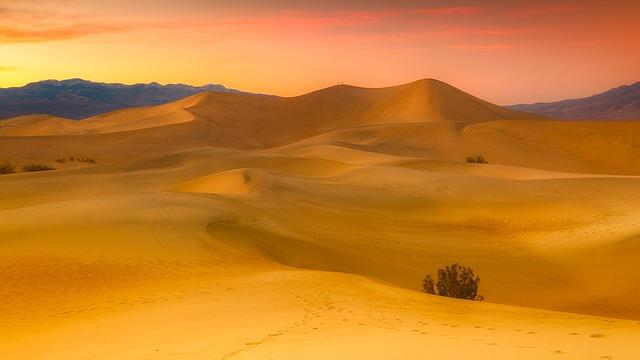 California, Desert, Sand, Dunes, Hills, Mountains
