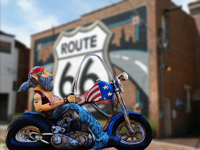 Biker, Route 66, Freedom, Usa, California, Desert