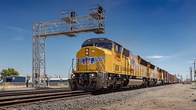 Usa, California, Train, Railroad, Union Pacific