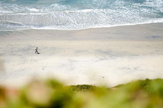 Usa, California, San Diego, Del Mar, Beach, Loneliness