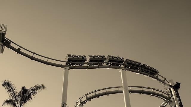 Santa Monica, California, Sepia, Roller Coaster